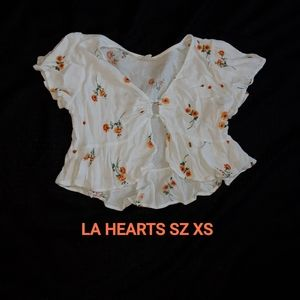 LA HEARTS CROP BLOUSE